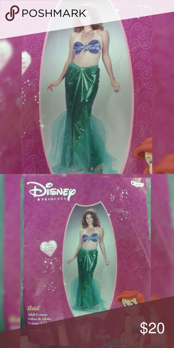 Little Mermaid Ariel Halloween Costume 2 Piece Ariel Costume. Gorgeous Fish tail Skirt and Purple Bikini Top. Does not have the nude underlay for the top. Original Packaging. Other