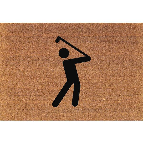 Golf Golfer Golfing Door Mat Coir Doormat Rug 2 X 2 11 (24 Inches X 35... ($38) ❤ liked on Polyvore featuring home, rugs, brown, floor & rugs, home & living, brown door mat, coconut fiber door mats, brown area rugs, coir doormat and coco fiber door mats
