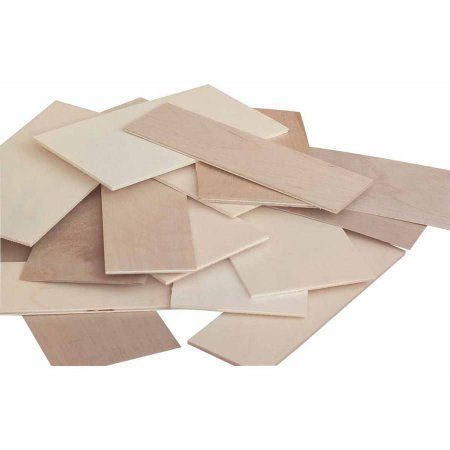 Sax, Thin Plywood Project Wood, Economy-Size Bag, Assorted Sizes