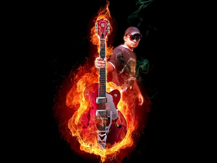 Burning guiter