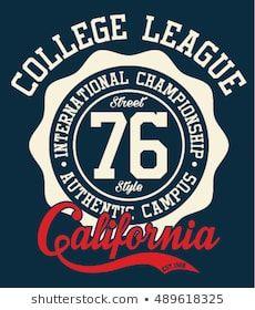 e79490845 California sport typography, t-shirt graphics, vectors | Lettering ...