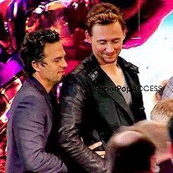 wool winter coats Mark Ruffalo and Tom Hiddleston