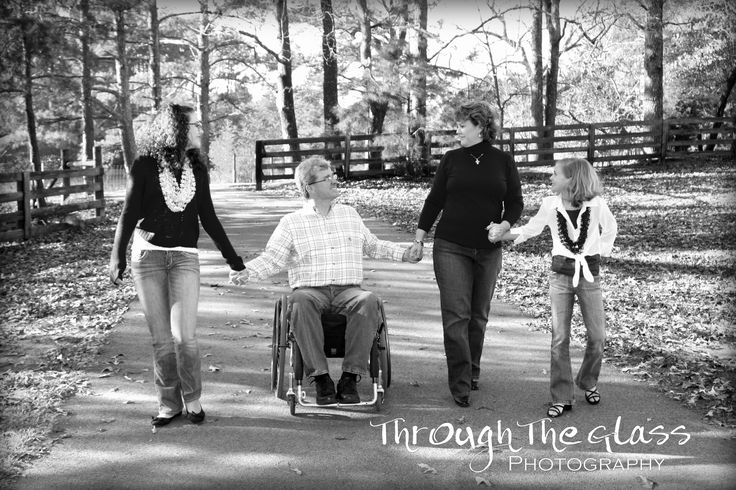 Family portrait with wheelchair, photography