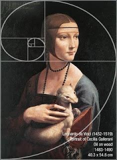 La proporción áurea en una de las pinturas hechas por Da Vinci.