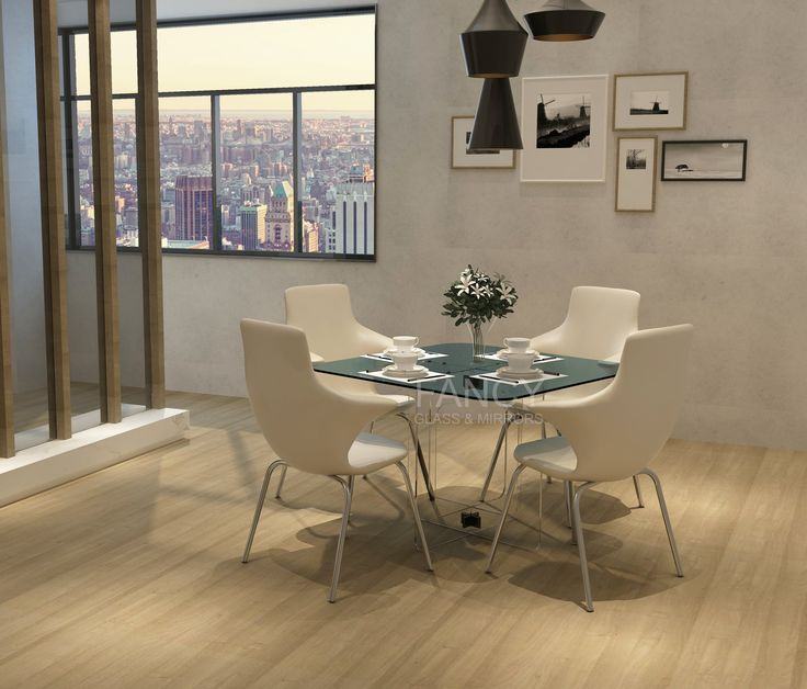 This MICHELANGELO GLASS DINING TABLE is light and airy 4 seater table that invites casual mood, topping a cross-base with a sparkling clear square glass top. It is solid, sturdy and very eye catching. You can pair it with any chears. Its very modern and super nice. At the same time it is reliable piece of glass furniture you can own. All part are made from thick tempered glass. And base panels are fixed together with the help of Glass-to-Glass corner clamps which are strong and safe for long…
