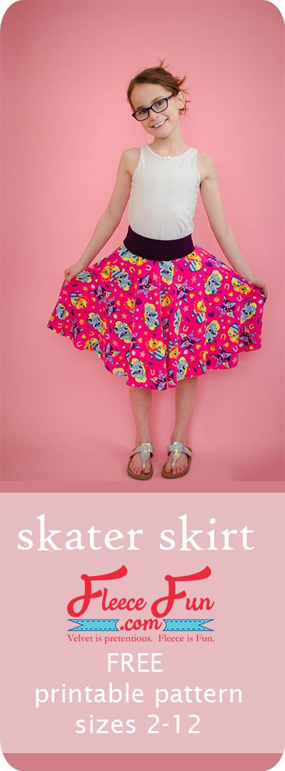 How to make a Skater Skirt (Free Printable Pattern) ♥️ Fleece Fun