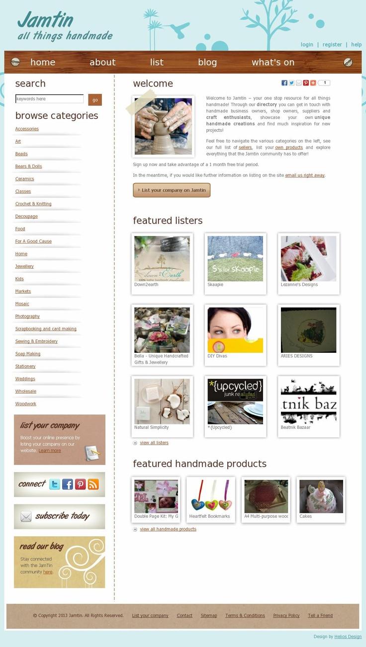 The website 'www.jamtin.co.za' courtesy of @Pinstamatic (http://pinstamatic.com)