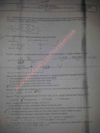 Analog Elektronik Dersi Final Soruları - 2012