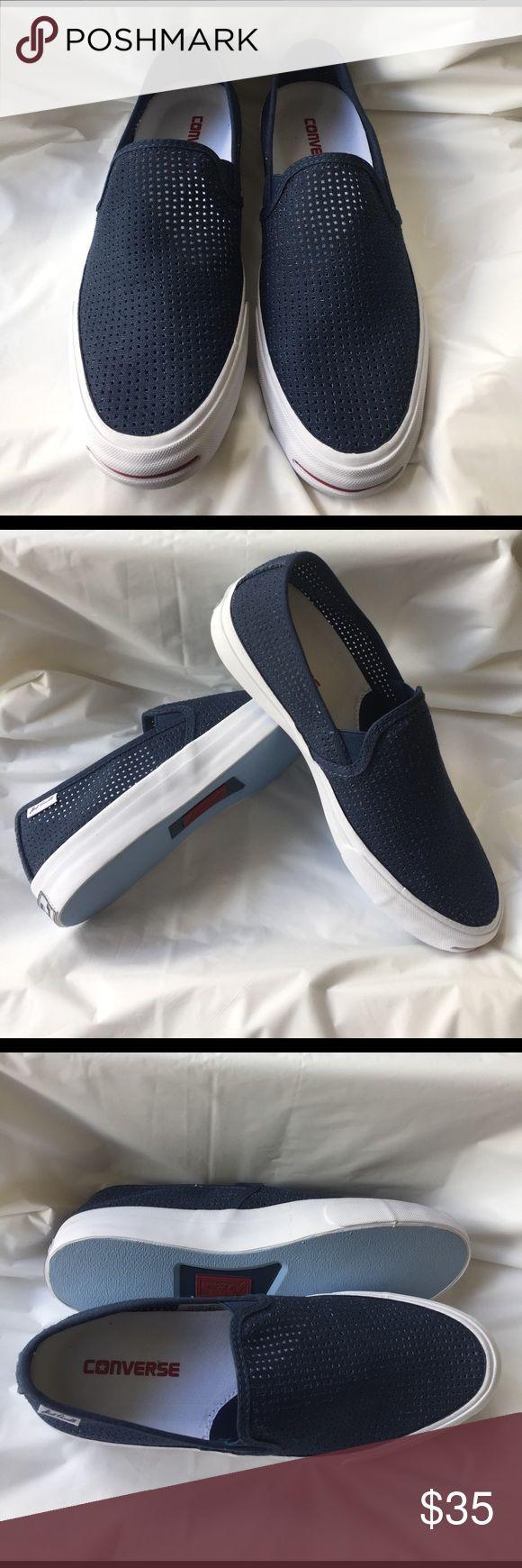Converse JP II Slip Sneaker Unisex Unisex slip on. Diamond cut pattern in upper canvas. Color: Navy/Garnet/White. Men's Size: 8 Women's Size: 9.5  Sneaker is new, never worn Converse Shoes Sneakers