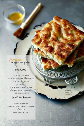 PANEDOLCEALCIOCCOLATO: Focaccia veloce...una ricetta facile senza impasto - Ricetta base -