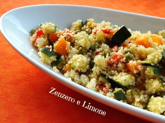 COUS COUS LIGHT | ricetta vegetariana - Zenzero e Limone