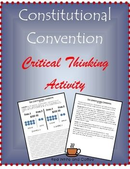 The debate over how to organize Congress can be challenging to teach students.  This activity is designed to help students think about what they know about the debate in a new way.After learning about the debate over Congress at the Constitutional Convention, students will use critical thinking to identify visual representations of the New Jersey and Virginia Plans.