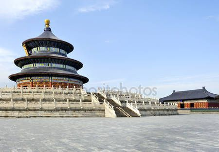 Download - The Imperial Vault of Heaven in the Temple of Heaven in Beijing, — Stock Image #8371646