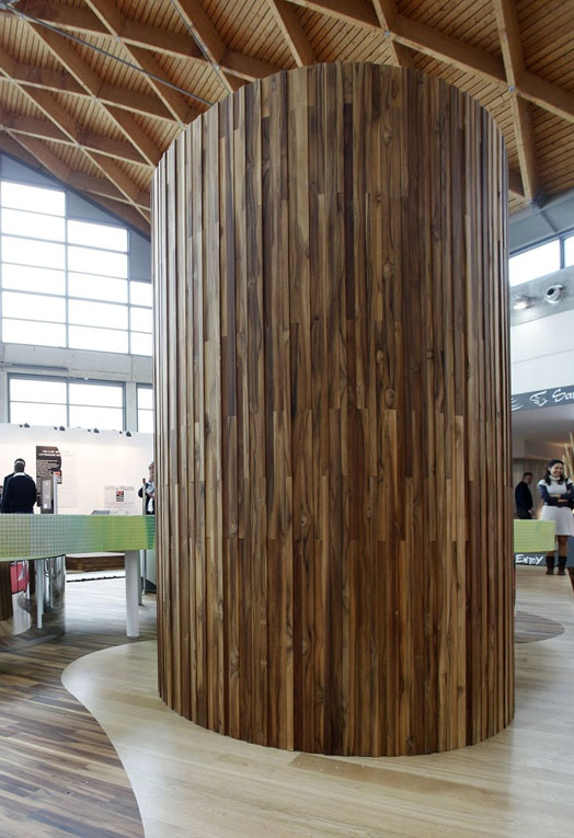 Wooden #wall tiles X.BLOOM by @Menotti Specchia | #design Alberto Apostoli #wood