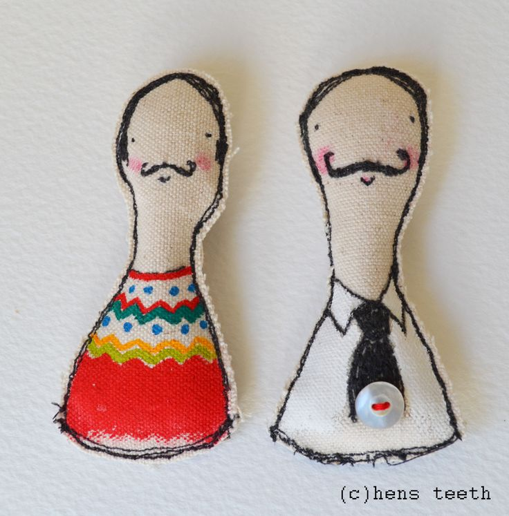 hens teeth : Bonjour Brooches pins