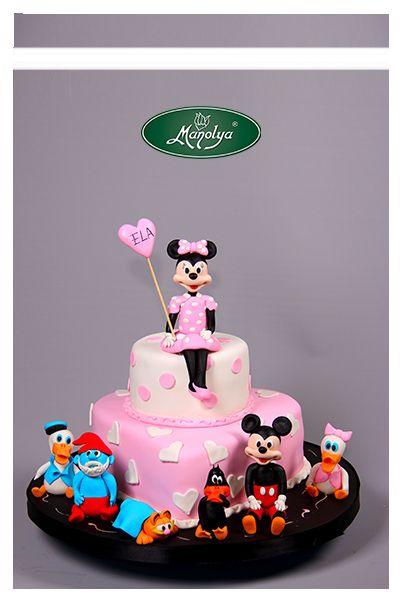 #manolyapastanesi #patisserie #istanbul #cake #cakedesign #pink #disney #disneycharacters #yummy #celebration #kids #birthday #birthdaycake