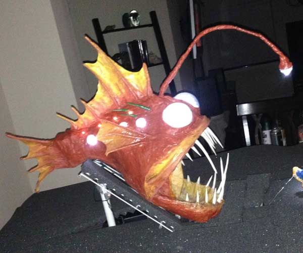 Best Angler Fish Reference Art Images On Pinterest Angler - Anglerfish chair with a big lamp