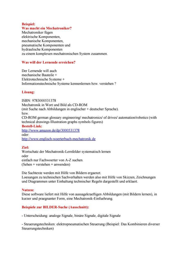 Mechatronik-Ausbildung: Lernhilfe