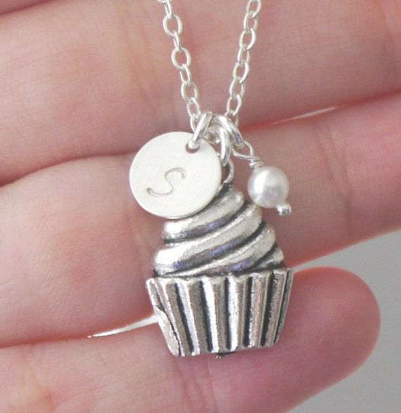 Cupcake Necklace Cupcake Charm Necklace Cupcake by MadiesCharms, $22.95