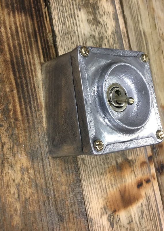 These switches look amazing in any vintage or industrial style setting. Made to order from cast metal in the uk. Fitted with 1 or 2 way 15 amp toggle switch. 20mm or 25mm conduit entry can be drilled on request. 80mm x 80mm. 55mm deep. More switch products coming soon.