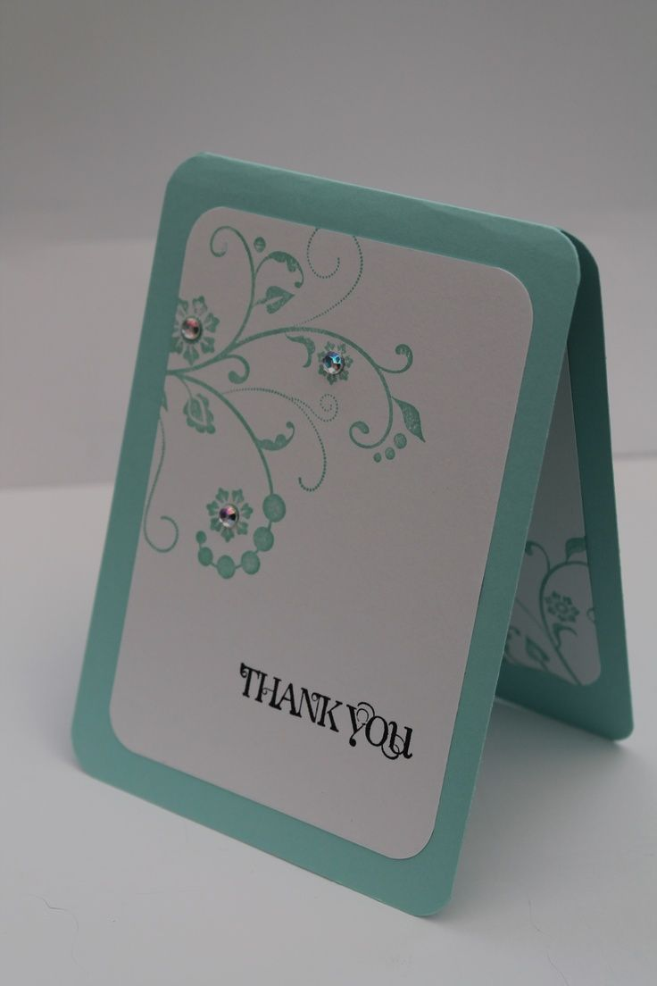 Thank You Card Stampin' Up! - fancy flourishes stamp set!