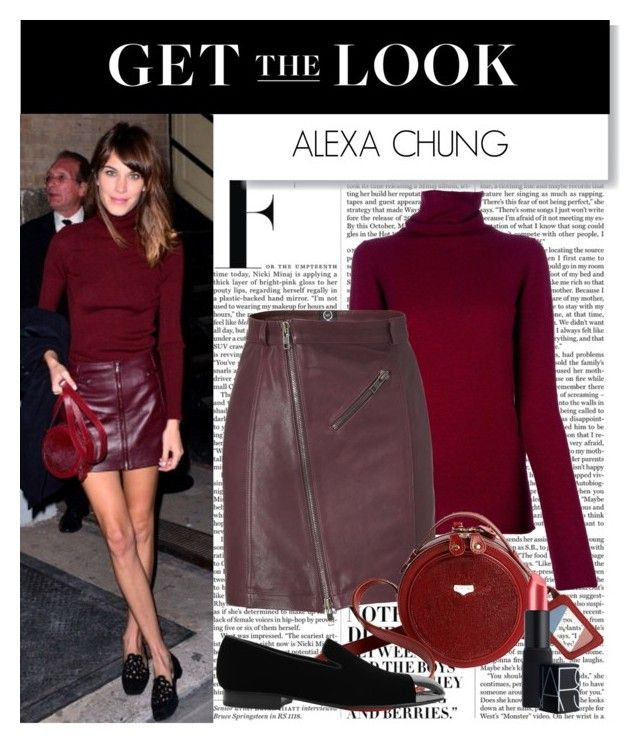 """Get the Look: Alexa Chung"" by polyvore-editorial ❤ liked on Polyvore featuring Nicki Minaj, MANTU, McQ by Alexander McQueen, Carven, Louis Leeman, NARS Cosmetics, GetTheLook, alexa chung, celebrity and celebrity style"