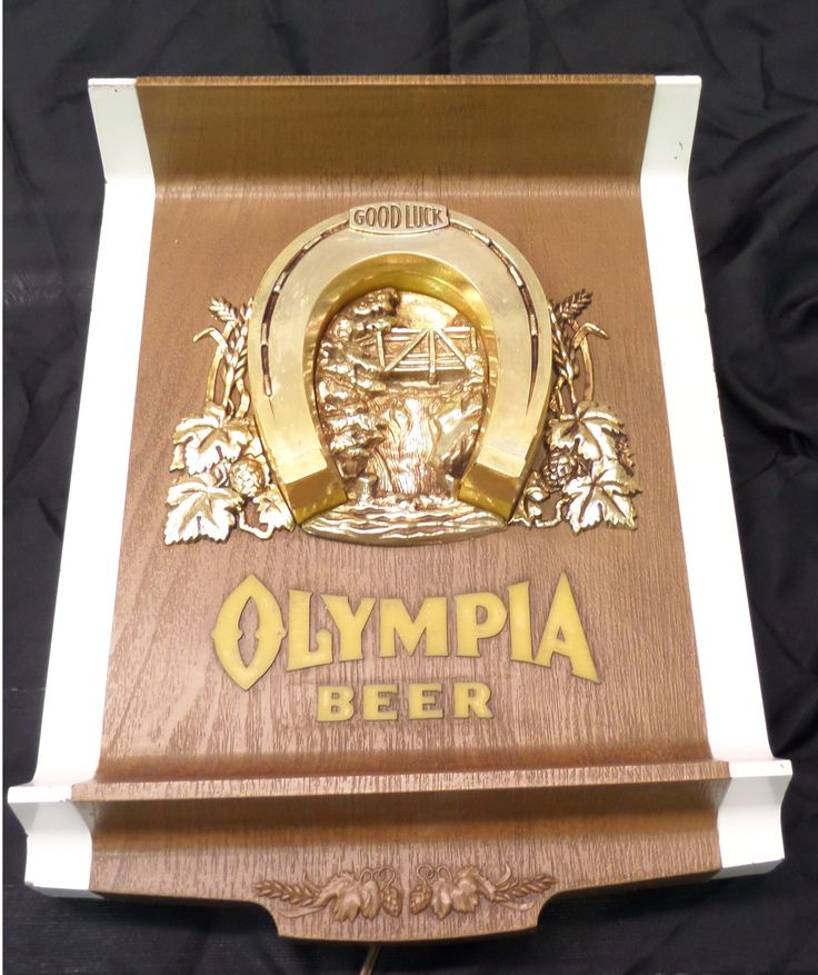 vintage Olympia lucky beer light for sale, vintage Olympia horse ...