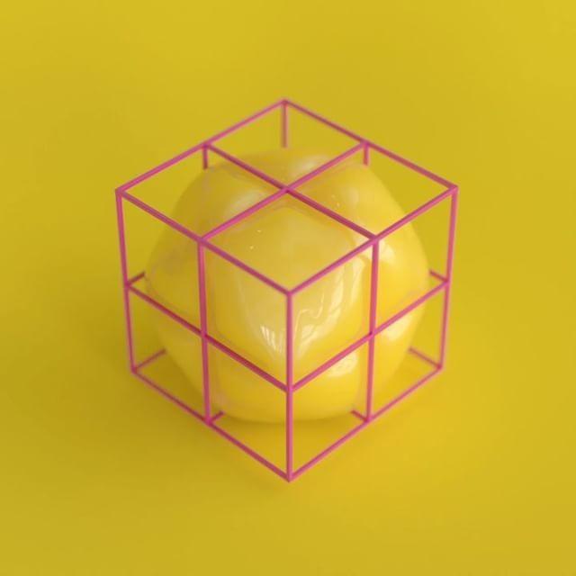 Testing Redshift Renderer / SSS, GI, DOF, Soft body dynamics. #c4d #redshift #balloons #yellow #abstractart