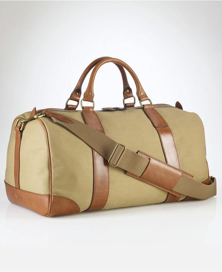 Ralph Lauren Polo Chic Canvas Handbag Darkblue