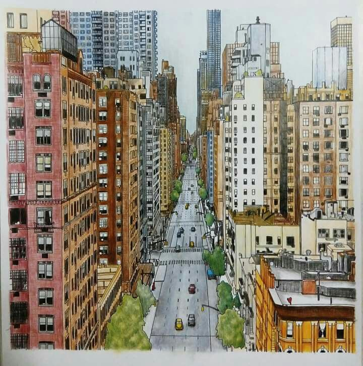 Big City Coloring BooksCitiesColoring