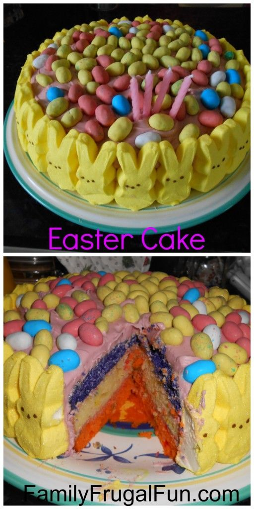 Easy DIY Easter Cake for your Easter celebration this year! Fun & festive!