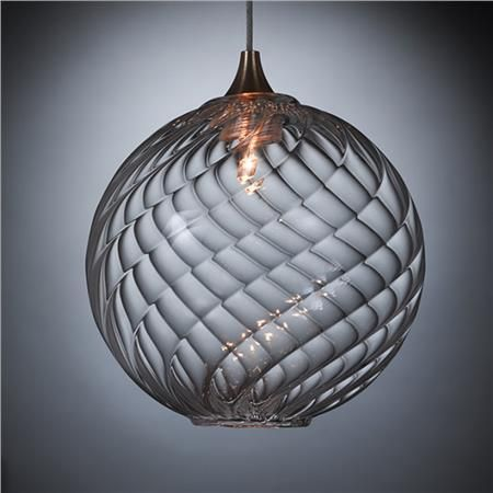 Globe Blown Glass Pendant Light, $410 on www.artisancraftedlighting.com