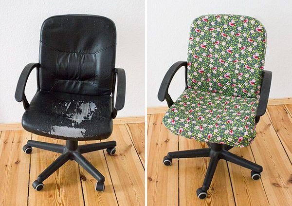 diy anleitung einen stuhl mit stoff beziehen via meinebernina n hen home. Black Bedroom Furniture Sets. Home Design Ideas