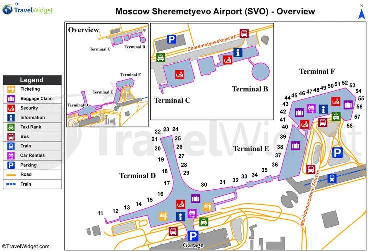 Moscow Sheremetyevo International Svo Airport Terminal