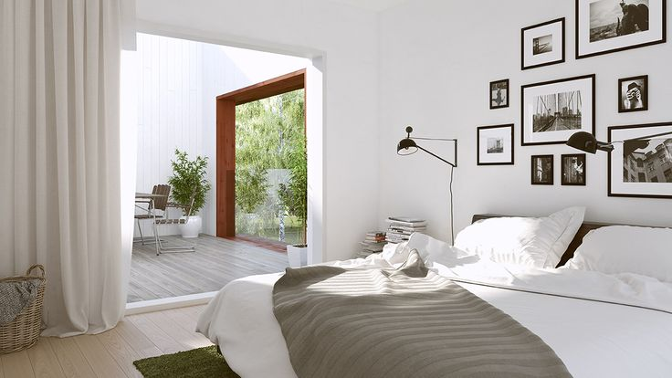 White and light, that's how the Swedes want their homes. This bedroom features hardwood flooring and white walls. By analysing 200 million clicks, Hemnet – Sweden's most popular property portal – has created Sweden's most sought after home. Explore the home and tell us what you think.