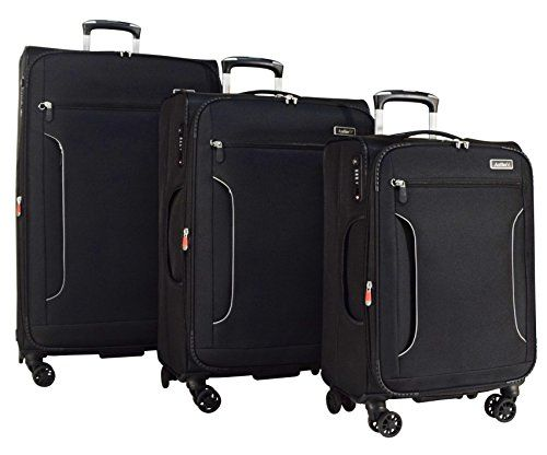 Luggage Sets Collections | Antler Cyberlite Il DLX 3Piece Expandable Spinner Set 30 27 and 21 Black ** Click image for more details. Note:It is Affiliate Link to Amazon.