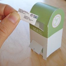 World's Smallest Post Service: Paper Mailbox This do-it-yourself mailbox was a freebie with tiny letter and package orders last holiday season. Now you can download the template by clicking on the image below, and make one yourself. Have fun!