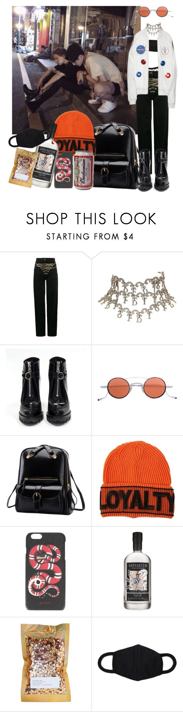//507// by danielagreg on Polyvore featuring Y/Project, Prada, Christian Dior, Versace, Gucci, Jacques Marie Mage, Pat McGrath and Sipsmith
