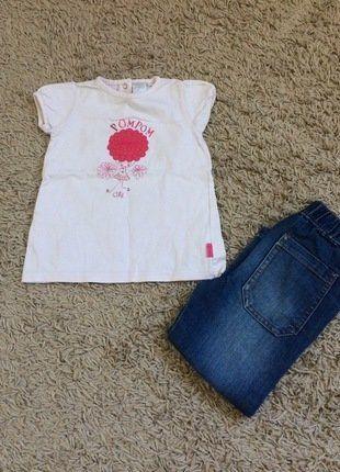 À vendre sur #vintedfrance ! http://www.vinted.fr/mode-enfants/t-shirts/31215683-haut-cadet-rousselle-et-jeans-tregging-3-ans