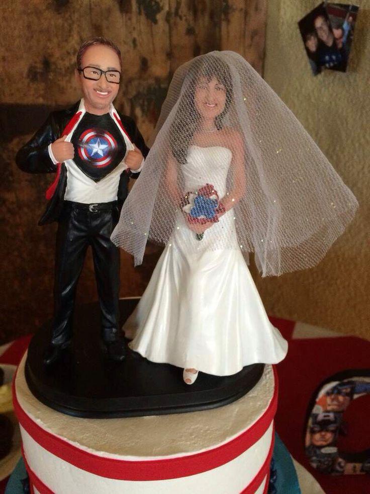 Captain America Groom Cake