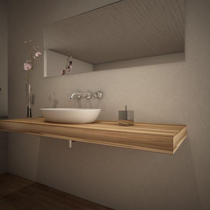 Waschtischplatte holz nach maß  45 besten Bad Bilder auf Pinterest | Badezimmer, Wohnen und Gäste wc