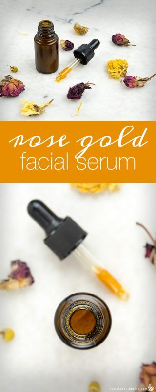 How to Make Rose Gold Facial Serum humblebee and me