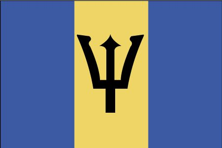 Country Flags: Barbados Flag