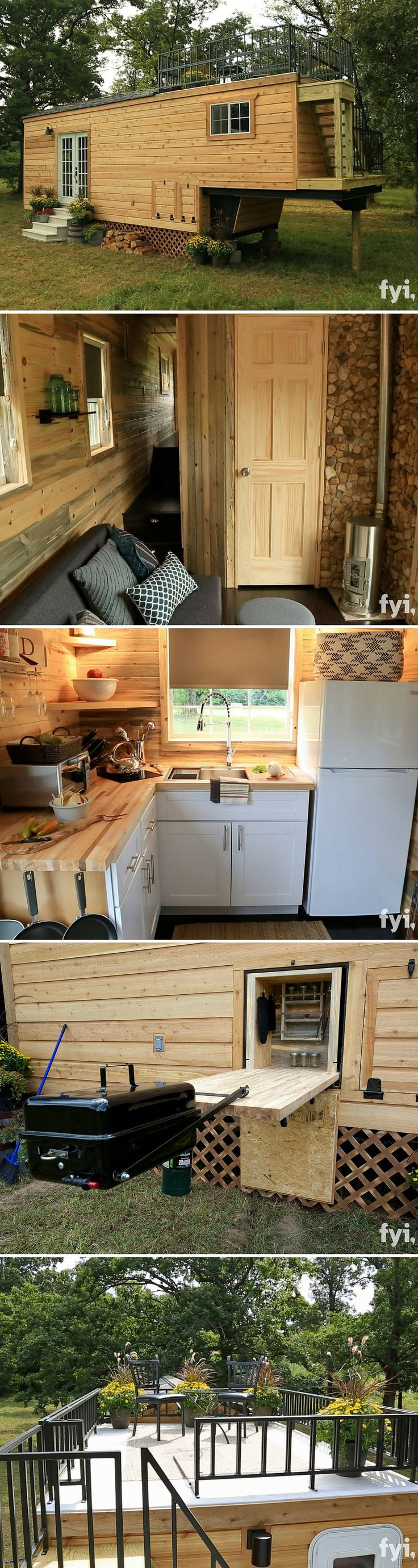 The Honeymoon Suite tiny house. (DON'T KNOW IF THESE FEATURES WOULD BE SUITABLE FOR ALL TYPES OF PEOPLE - HENCE THE NAME . BUT OVERALL I LIKE THE DESIGN . PRACTICAL BUILD FOR THE DIY'ER .DB . 7/27/2016.)