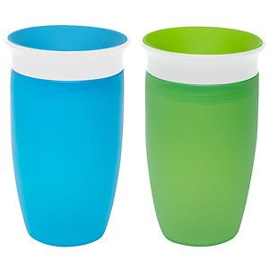 Buy Munchkin Miracle 360 Degree 10oz Sippy Cup, 2 pk, Green and Blue with free shipping on orders over $35, low prices & product reviews | drugstore.com