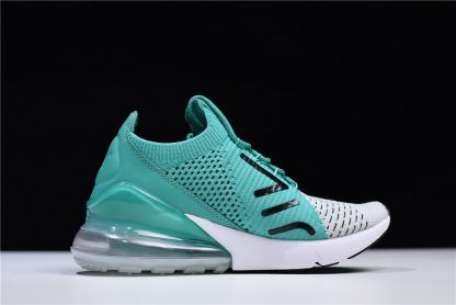 0a2531018ba1 Nike WMNS Air Max 270 Flyknit Clear Emerald Black Pure Platinum White AH6803 -300-1