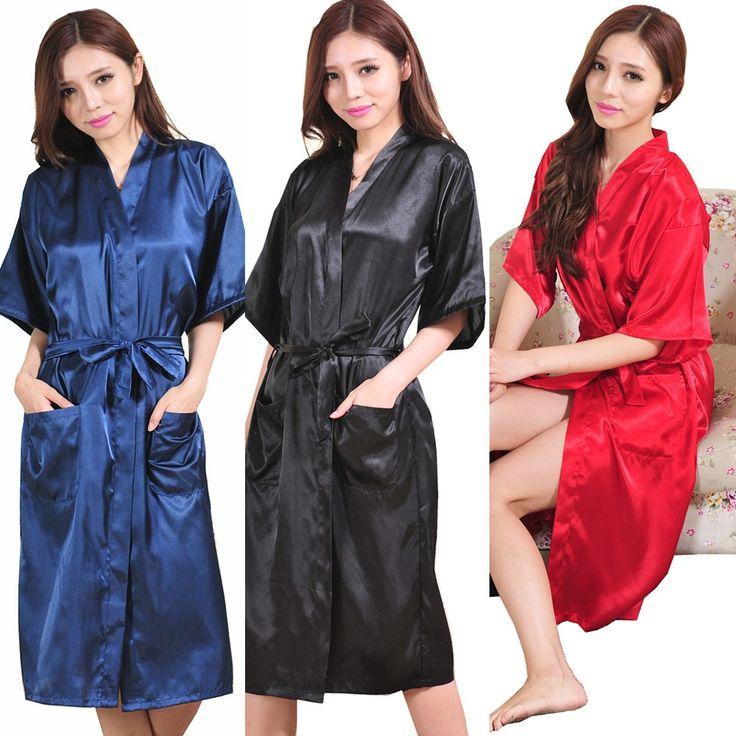 RB009 Grande Taille Sexy En Satin de Soie Robe Peignoir Robes de Chambre Pour Les Femmes Parfait Demoiselle D'honneur Robes Chemise de Nuit pour la Mariée et Amateurs
