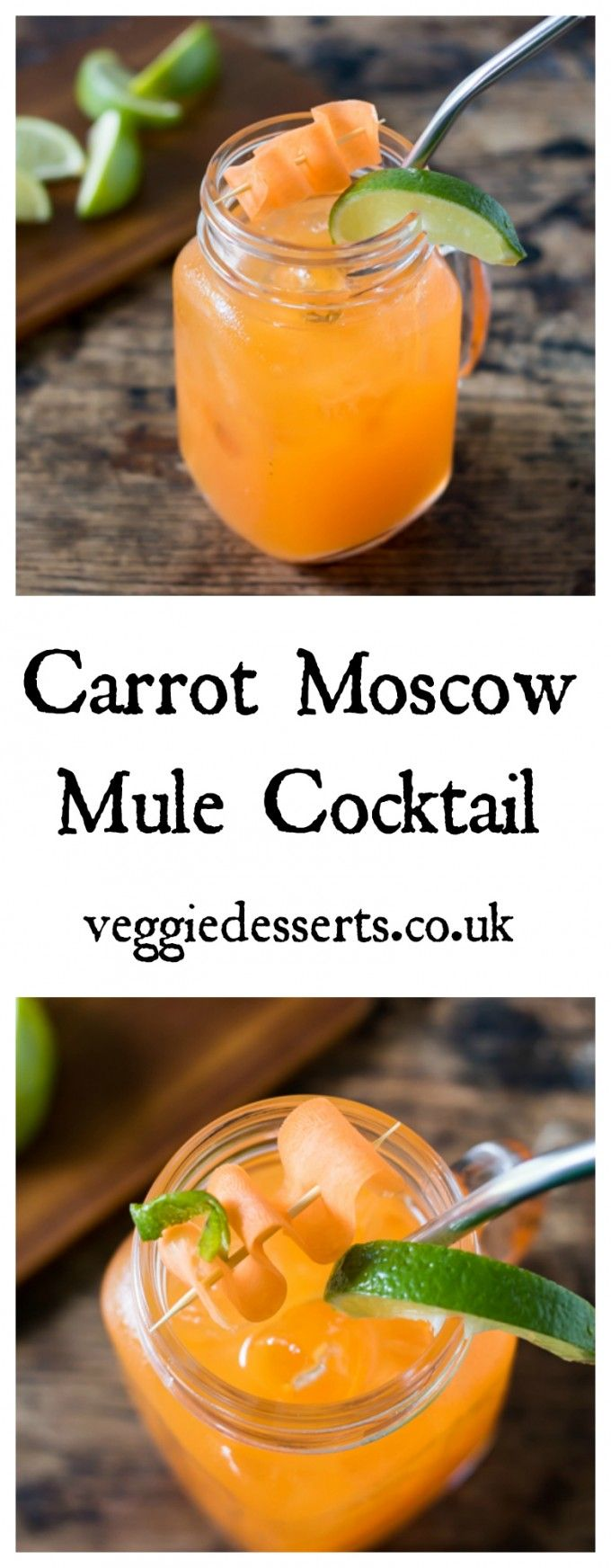 Carrot Moscow Mule | Veggie Desserts Blog >>>This Carrot Moscow Mule is a vegetable twist on the classic cocktail! And hey, adding carrot juice means it's practically like drinking salad, right?  veggiedesserts.co.uk