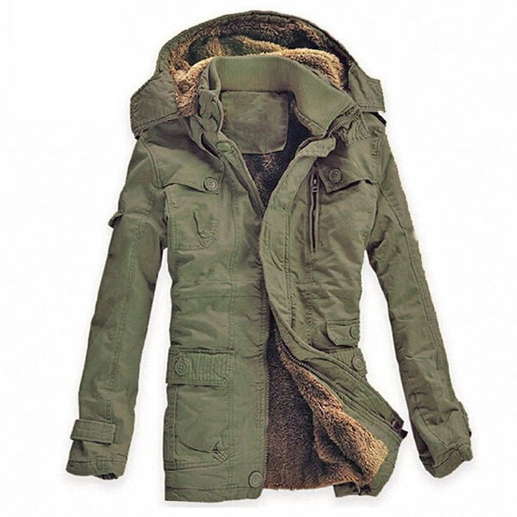 Winter Jacket Men Casual Thick velvet Warm Jackets Parkas hombre Men's cotton Windbreaker army Hooded jacket long trench coat