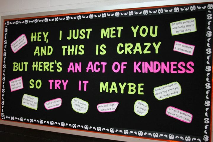 Acts of Kindness bulletin board